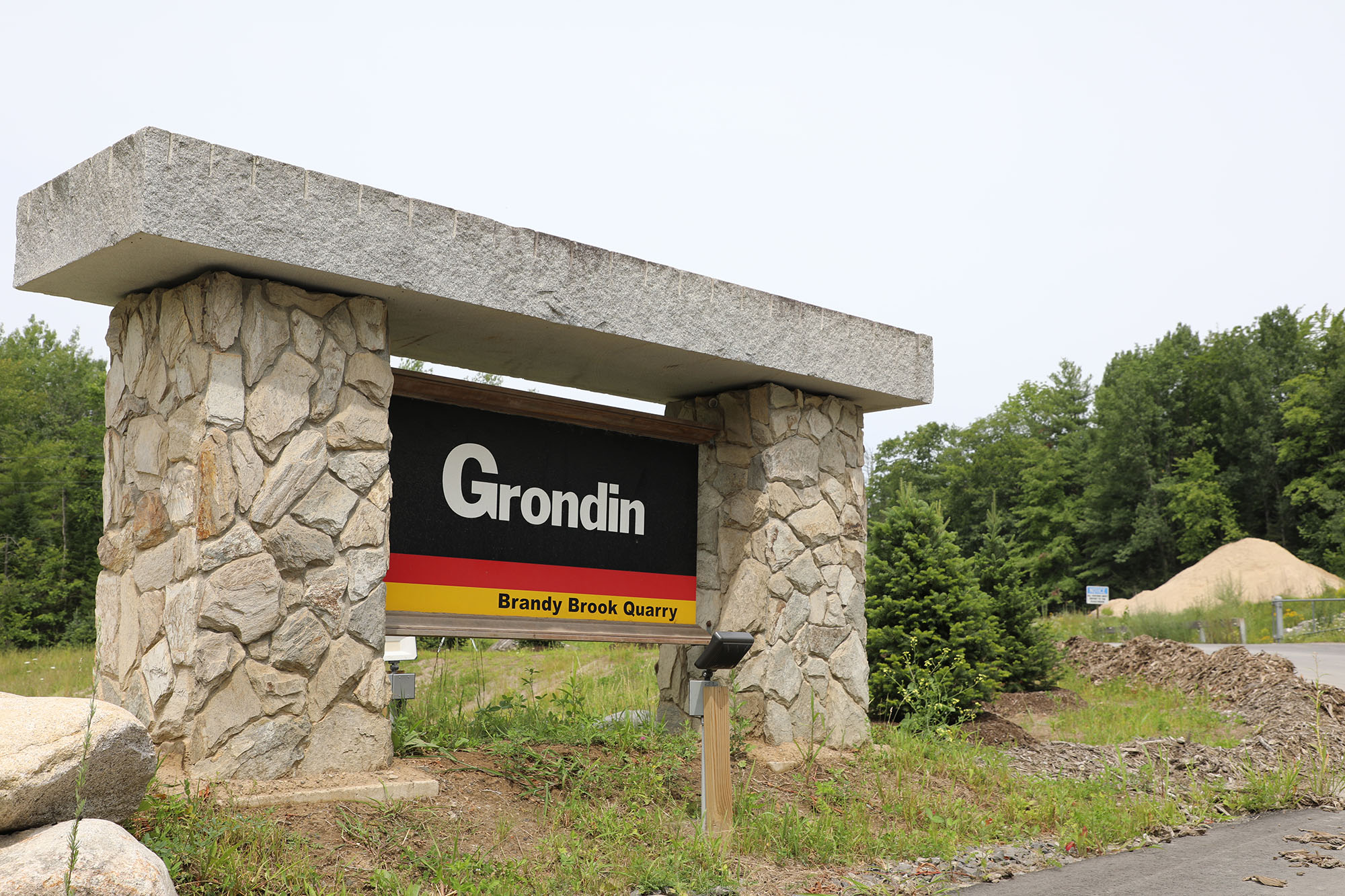 Grondin Signage outside the Quarry in Maine